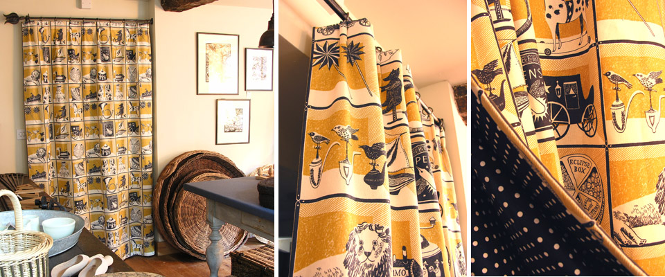 Door Curtain using Emily Sutton's Curiosity Shop Fabric