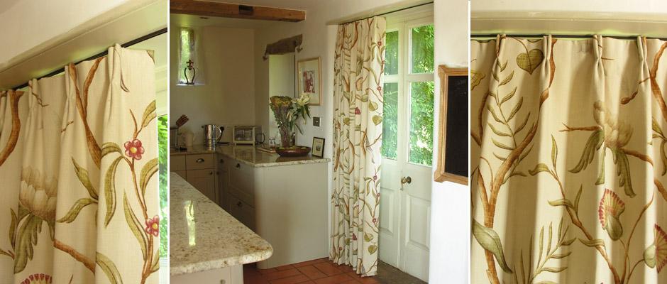 Kitchen Door Curtain using Adam's Eden