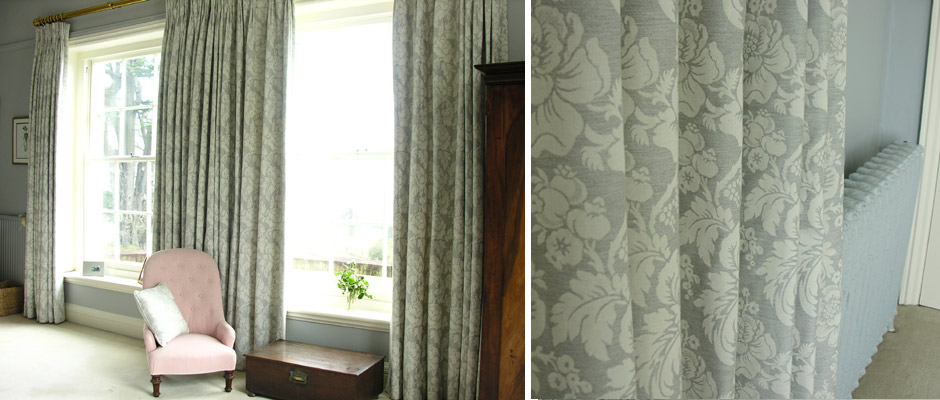 Wildflower Jacquard bedroom curtains