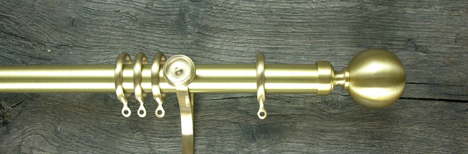 Satin Brass Curtain Pole