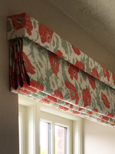 Roman Blind with Top Box