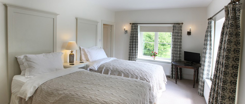 Twin Bedded Room at Monnington House